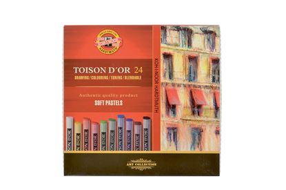 Obrázek Křídy prašné Toison D´or  -  24 barev