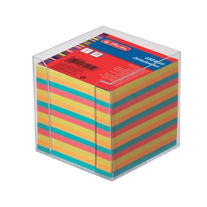 Obrázek Záznamní kostky barevné Herlitz - 650 lístků v plastové krabičce