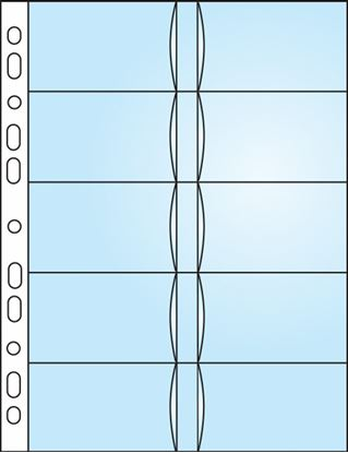 Obrázek Závěsný obal Bantex - A4 silný / obal na 20 ks vizitek / 10 ks