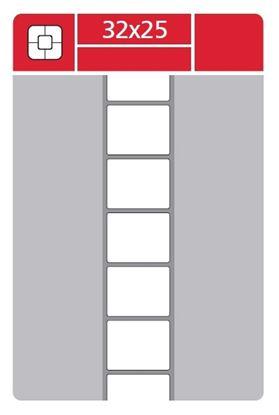 Obrázek Etikety pro termotransferové tiskárny - 32 x 25 mm / 3000 etiket na kotouči
