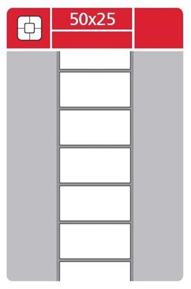 Obrázek Etikety pro termotransferové tiskárny - 50 x 25 mm / 3000 etiket na kotouči