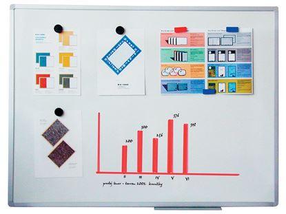 Obrázek Tabule bílá magnetická Filux - 90 x 120 cm