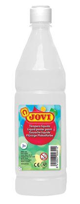 Obrázek Tekuté temperové barvy JOVI v lahvi - 1000 ml / bílá