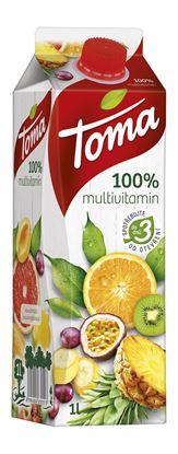 Obrázek Toma džus multivitamin 100 % 1l