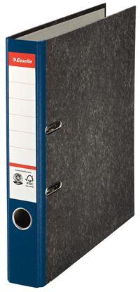 Obrázek Pořadač A4 pákový papírový s barevným hřbetem - hřbet 5 cm / modrá / 36059