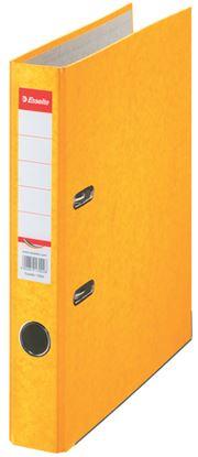 Obrázek Pořadač A4 pákový kartonový Rainbow - hřbet 5 cm / žlutá / 17923