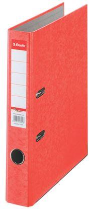 Obrázek Pořadač A4 pákový kartonový Rainbow - hřbet 5 cm / červená / 17921