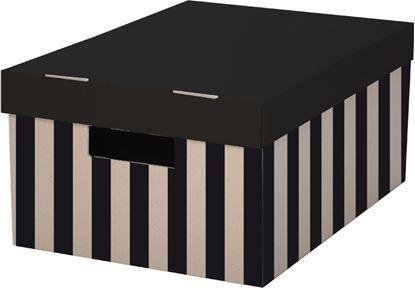 Obrázek Krabice úložná s víkem - 28 x 37 x 18 cm / 2 ks