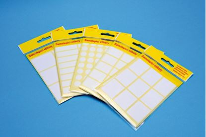 Obrázek Samolepicí etikety v sáčku - 42 x 35 mm / 60 etiket