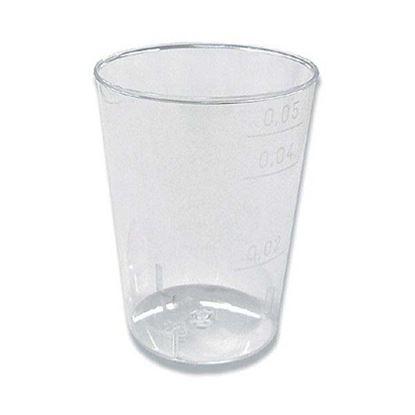 Obrázek Kelímky plastové - krystal / 5 cl / 40 ks