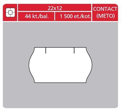 Obrázek Etikety do etiketovacích kleští - 22 x 12 mm Contact / bílá