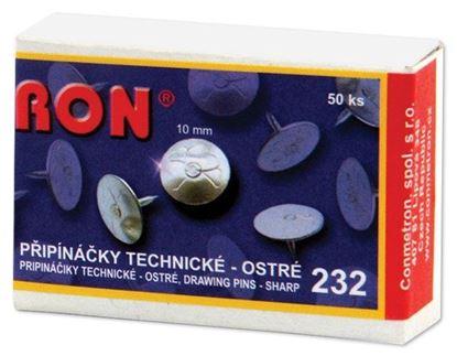 Obrázek Připínáčky RON  -  232 / 50 ks, technické