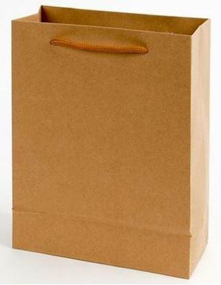 Obrázek Tašky papírové EKO hnědé - střední / 190 x 80 x 240 mm