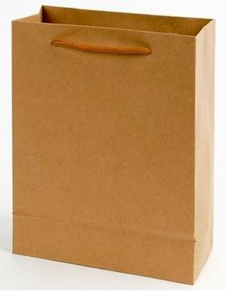Obrázek Tašky papírové EKO hnědé - malá / 150 x 60 x 200 mm