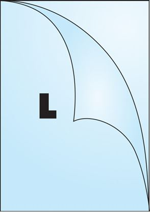 Obrázek Zakládací obal tvar L - tvar L / A4 matný / 115 my / 10 ks