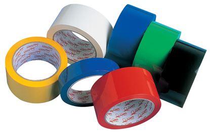 Obrázek Balicí pásky barevné - 25 mm x 66 m / červená