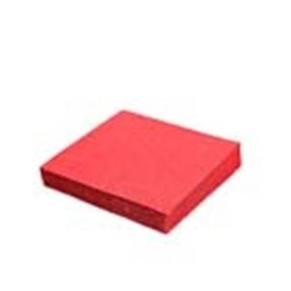 Obrázek Ubrousky papírové barevné třívrstvé - 33 cm x 33 cm / červené / 20 ks
