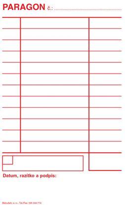 Obrázek Paragon Baloušek - blok 80 x 150 mm / nečíslovaný 50 listů / NCR / PT005
