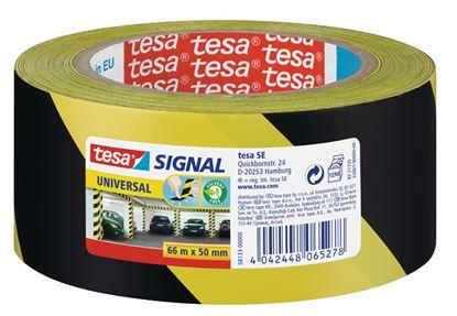 Obrázek Lepicí pásky Tesa značkovací - 50 x 66 / černo - žlutá