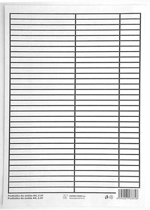 Obrázek Podložky do sešitů papírové + PVC - podložka A4 / linka - linka / PVC