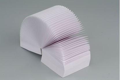Obrázek Záznamní kostky bílé - 9 cm x 9 cm x 7 cm / lepená vazba
