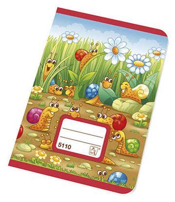 Obrázek Sešity školní JUNIOR 10 listů - A5 / 5110 / čtvereček 10 x 10 mm