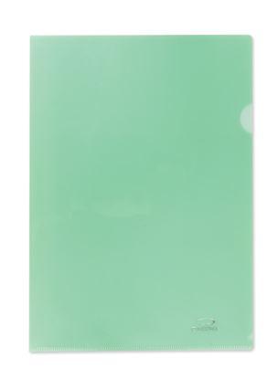 Obrázek Zakládací obal A4 barevný - tvar L / zelená / 10 ks