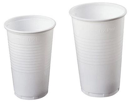 Obrázek Kelímky plastové - bílé / 2 dcl / 100 ks