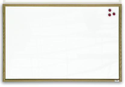 Obrázek Tabule bílá magnetická v dřevěném rámu - 60 x 40 cm