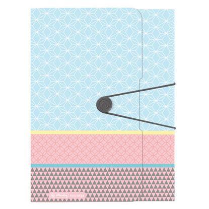 Obrázek Spisové desky A4 s gumou Herlitz Graphic Pastels - Blue