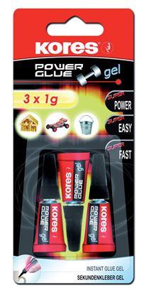 Obrázek Vteřinová lepidla Kores - Power Glue gel 3 x 1g