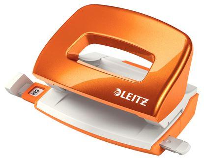 Obrázek Kancelářský děrovač 5060 mini - metalická oranžová