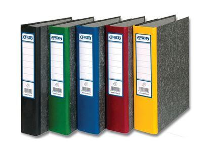 Obrázek Pořadač A4 papírový archivní  -  hřbet 8 cm / modrá