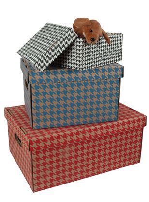 Obrázek Krabice Emba úložná s víkem - bílá / A5 / 22 x 15,5 x 10 cm