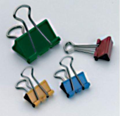 Obrázek Klipy kovové barevné RON - 15 mm
