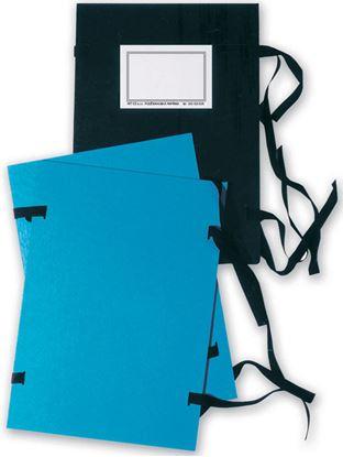 Obrázek Spisové desky s tkanicí  -  A4 / modrá