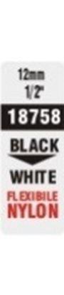 Obrázek Pásky D1 nylonová flexibilní pro elektronické štítkovače DYMO - 12 mm x 3,5 m černý tisk / bílá páska