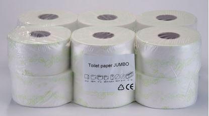 Obrázek Toaletní papír Jumbo bílý s potiskem  -  průměr 190 mm