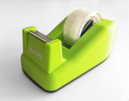 Obrázek Stolní odvíječ lepicí pásky Bantex - limetkově zelená