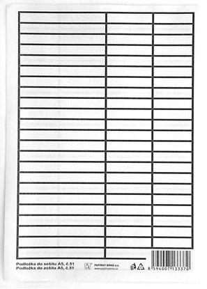 Obrázek Podložky do sešitů papírové + PVC - podložka A5 / linka - linka / PVC