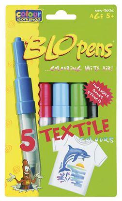 Obrázek Foukací fixy AirPens TEXTILE 1539 Centropen - na textil / sada 5 ks