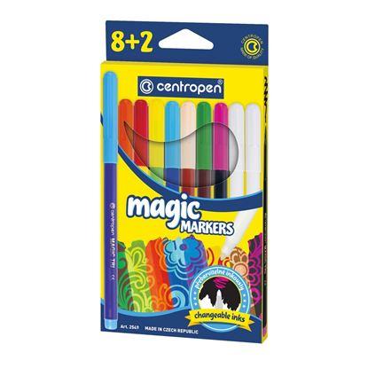 Obrázek Značkovač Centropen 2549/8+2 Magic - 8 barev + 2 zmizíky