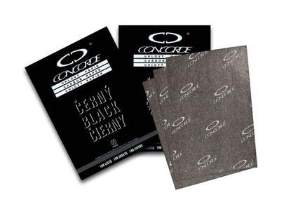 Obrázek Uhlový papír Concorde - černá / 100 listů