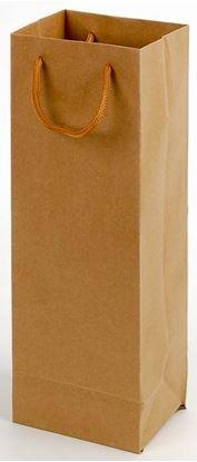 Obrázek Taška na láhev papírová EKO hnědá  / 115 x 90 x 355 mm