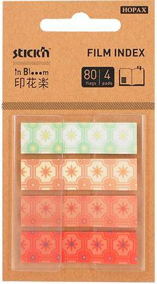 Obrázek Designová řada záložek Stick´n by Hopax in Blooom - 12 x 45 mm / 4 x 20 záložek