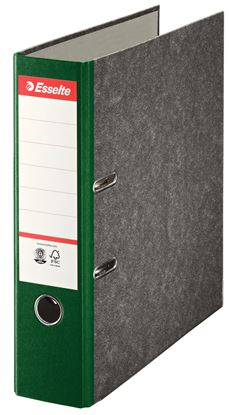 Obrázek Pořadač A4 pákový papírový s barevným hřbetem - hřbet 7,5 cm / zelená / 36066