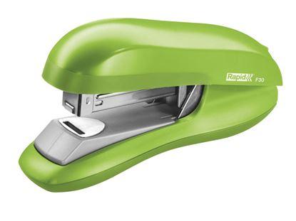 Obrázek Kancelářský sešívač Rapid F30 s plochým sešíváním - světle zelená + DÁREK