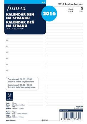 Obrázek Náhradní vložky do diářů Filofax - kalendář A5 2020 denní