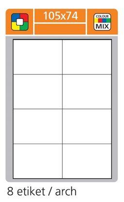 Obrázek Print etikety A4 pro laserový a inkoustový tisk - 105 x 74 mm (8 etiket/ arch) modrá