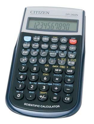 Obrázek Citizen SR260N vědecká kalkulačka displej 10 míst
